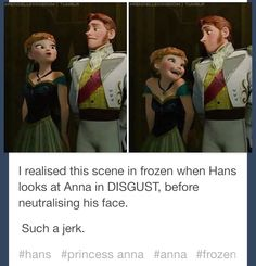 HANS YOU DESPICABLE THING HOW DID I NOT SEE THIS