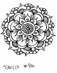#86 - Sketchbook : 100 Mandalas Challenge Week 14 - KitsKorner.Com