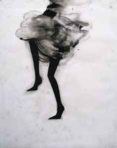 """Cathy Daley, """"These drawings reflect a contemporary, post-feminist ambivalence toward fashion, critiquing the garment industry's wrapped-and-bound feminine ideal and the notion of woman as spectacle. But irony in Daley's cultural criticism is the source of much of the drawing's wit. While recognizing the limitations imposed by old ideals, she also acknowledges their grace and appeal and expresses a certain nostalgia and yearning."""""""