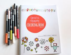 The new Creative Thursday Coloring Book from Marisa Anne Cummings: FANTASTIC road trip essential!