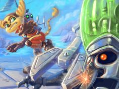 Ratchet And Clank by MrBFox