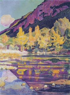 At the foot of the Petit Saleve by Ferdinand Hodler, 1903