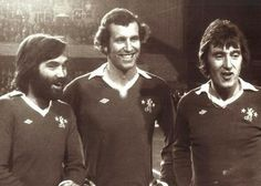 George Best, Peter Osgood and Alan Hudson at Peter Osgood's testimonial Retro Football, Chelsea Football, Chelsea Fc, France Euro, Chelsea Players, Team Mascots, Stamford Bridge, My Childhood, Anglia