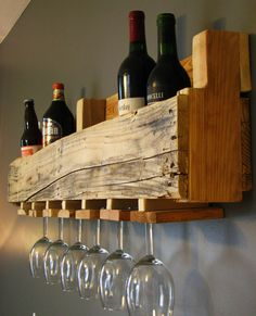 Reclaimed  Repurposed Shipping Pallet Wine Rack by DMHeritageandCo, $85.00