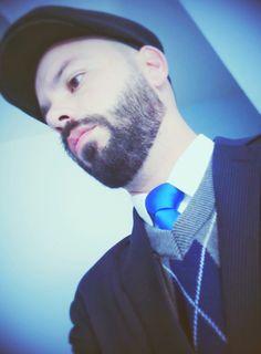 Cap, Boina, Beard and Bald, Full Beard Style, Tie, Terno e Gravata, Retrô Style, Vintage, Classic Fashion Man