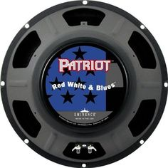 """Eminence Patriot Red White & Blues 12"""" - Guitar Speaker by Eminence. Save 6 Off!. $79.99. Wanna rock out with classic American tone? Put the Eminence Red White and Blues 12"""" guitar speaker in your combo amp or speaker cabinet, and you'll have all the powerful, beefy tone you can handle. The 120W Red White and Blues is ideal for all musical styles, with articulate response and a tight bottom end. Eminence speakers are powering the tone of some of the most iconic guitarists in the worl..."""