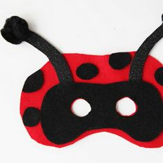 DIY Ladybug kids felt mask-great for Girl Scout Brownie Bugs badge or a journey