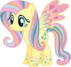 Rainbow Power Fluttershy Vector by icantunloveyou on DeviantArt
