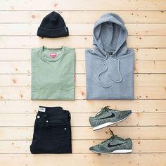 today's #outfitgrid  #APC hoodie / #Supreme tee / #Edwin denim / #Nike flyknit racer / #RaisedByWolves beanie  @outfitgrid @dennistodisco #supremenewyork #apcparis #rbw #ootd #outfitoftheday #streetwear #streetstyle #menswear #mensfashion #casualstyle #casuals #womft #wdywt #waywt #fashion #outfit #streetbeast #basementapproved #suptalk #flyknit #flyknitracer #teamcozy