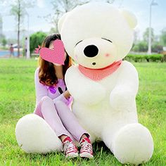 Vercart 63 White Color Giant Huge Cuddly Stuffed Animals Plush Teddy Bear Toy Doll ** Click image to review more details.