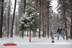 Ty has some an insane lack of vertical ability. #winter #snow #portrait #couple #engagement #idaho #northwest