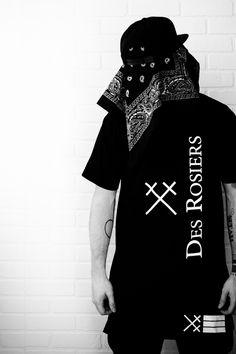 Des Rosiers http://www.des-rosiers.com/collections/noir-lvxvr/products/t-shirt-des-rosiers-blk