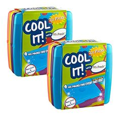 Camp Kitchen - Fit  Fresh Cool Coolers Slim Lunch Ice Pack Multicolor Set of 8 >>> Check this awesome product by going to the link at the image.