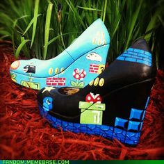 Stomp Those Goombas in Style  -H I would wear these every day of my life.....