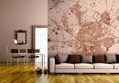 Leuk Behang Slaapkamer : Personalised map wallpaper pinterest