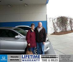 Thank you to Robert Collins on your new 2014 #Honda #Accord Sedan from Joe Majda and everyone at Honda of Denton! #NewCar