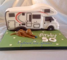 Motorhome cake for a 50th birthday