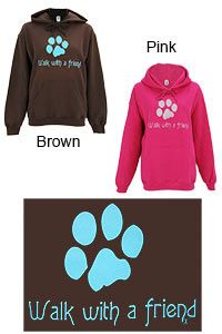 Walk With a Friend Hooded Sweatshirt at The Animal Rescue Site