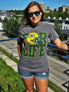 Packers for Life - Green Bay Packers T-shirt - Grey