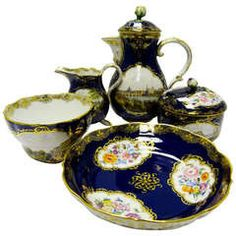Antique and Vintage Porcelain - For Sale at Tea Sets Vintage, Vintage Teapots, Coffee Set, Coffee Break, Coffee Time, China Tea Sets, Chocolate Pots, Antique China, Ceramics