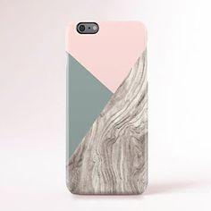 iPhone 6 Case Wood Print iPhone 6 Case Geometric iPhone 6 Case Pantone Color iphone 5 Case iPhone 5s Case Galaxy S5 Case Pastel Pink