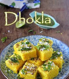 Khaman dhokla easy to make homemade gujarati snack recipe by ruchi dhokla is a popular gujarati snack and is also called as khaman dhokla which is pretty forumfinder Images