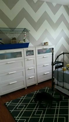 walls complete dressers back in the room new rug from Target