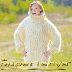 UNIQUE Made to order hand knitted mohair sweater by supertanya