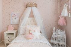 blush pink, cream and gold sophisticated girls ballerina nursery Pink Princess Room, Girls Princess Bedroom, Ballerina Bedroom, Princess Room Decor, Pink Bedroom For Girls, Big Girl Bedrooms, Pink Room, Little Girl Rooms, Princess Room Ideas For Girls