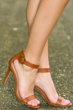 Meant To Be Heels-Cognac