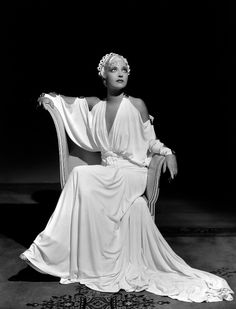 """Kay Francis in """"I Found Stella Parish"""" (1935). Costume design by Orry-Kelly."""