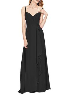Ovitina Womens Spaghetti Straps Chiffon Bridesmaid Prom Dresses Evening Gown >>> Quickly view this special  product, click the image : Bridesmaid Dresses