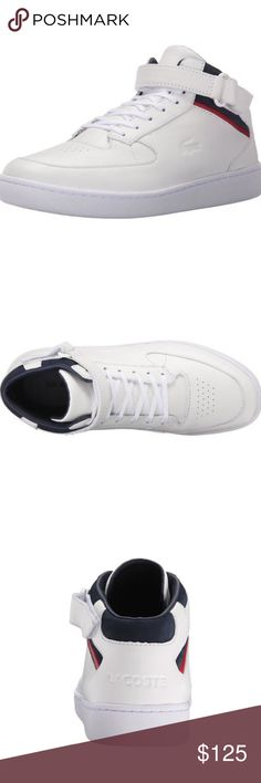 Men's Lacoste Turbo Sneaker Open to reasonable offers.  New in box.   - Leather upper. - Single strap, hook-and-loop closure. - High-top silhouette. - Lace construction. - Embossed logo. Lacoste Shoes Sneakers