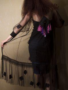 Black Net Dress whit sleeves