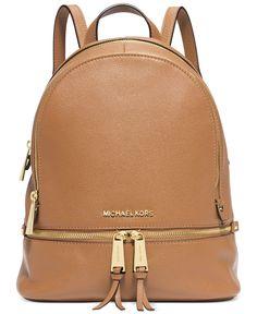 MICHAEL Michael Kors Rhea Zip Small Backpack - Handbags & Accessories - Macy's