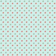 free digital floral scrapbooking paper: printable DIY wrapping paper in antique blue