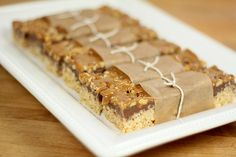 Rice Krispie Treats with Chocolate, Toasted Walnuts and Caramel