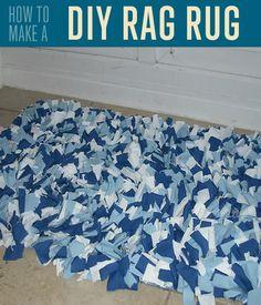 DIY Rag Rug Tutorial | How to Make a Rag Rug by DIY Ready at diyready.com/how-to-make-a-rag-rug/