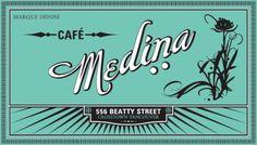 Cafe Medina logo #typography #font