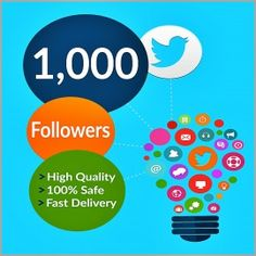 Buy Twitter Followers $2 per 1000 Twitter Followers