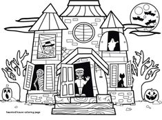 Halloween Spooky House Drawing.57 Best Haunted House Drawing Images In 2019 Haunted House