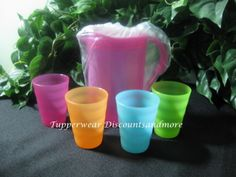 Tupperware-New-Kids-Toy-Mini-Serving-Impressions-Pitcher-Tumbler-Set-Fruit-Pink