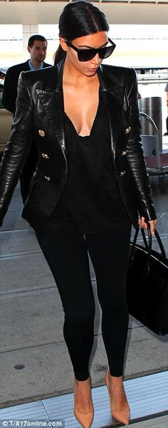 Something else to talk about: The brunette beauty Kim Kardashian West showed off her assts in a plunging blouse
