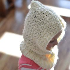 Toddler Crochet Hooded Cowl Pattern