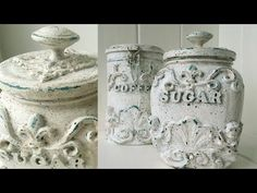 In this video, a simple idea to decorate cans with your own hands.)))) 👉Other video. Nifty Crafts, Recycled Crafts, Cute Crafts, Crafts To Make, Plaster Crafts, Plaster Art, Soda Can Art, Doll House Crafts, Recycle Cans