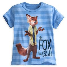 Disney Store Zootopia Nick Wilde Fox T Shirt Boys Girls Size: L 10/12 #DisneyStore #Everyday