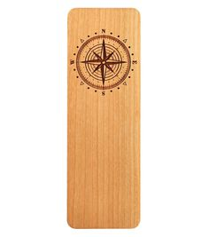 Compass Rose Bookmark, Reading Bookmark