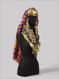 The Jewellery of Jewish Brides in Djerba. Jewish brides on the island of Djerba were covered from head to toe in multiple layers of jewelry, creating a dazzling effect. | © The Israel Museum, Jerusalem