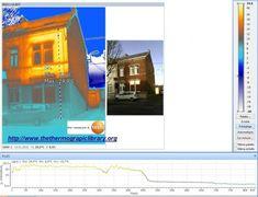 Visualisation de l'effet solaire sur une façade de maison en thermographie. Solar effect on building with thermography