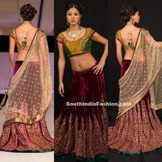 Striking Lehenga by Shyamal and Bhumika ~ Celebrity Sarees, Designer Sarees, Bridal Sarees, Latest Blouse Designs 2014
